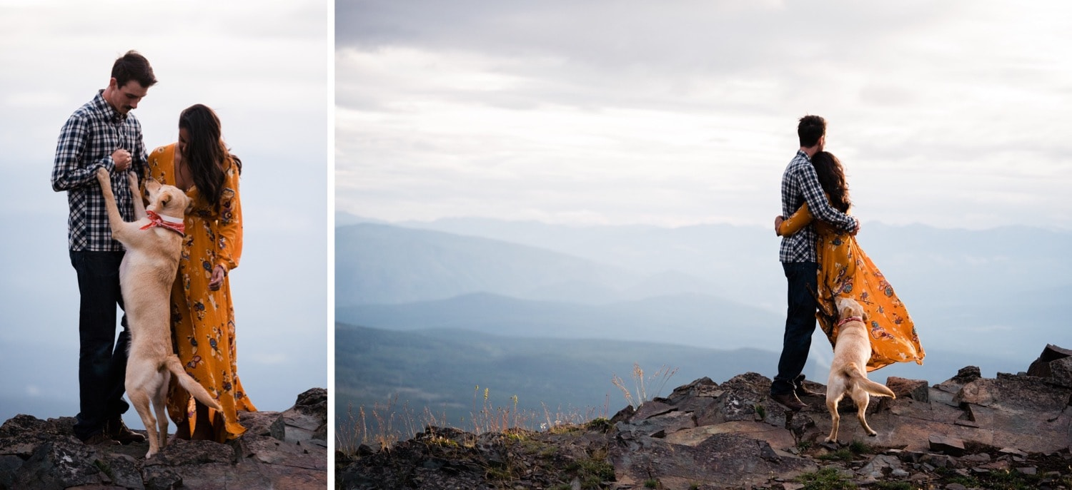Special moments as a little family, taking in the views on top of a mountain outside of Cranbrook, British Columbia